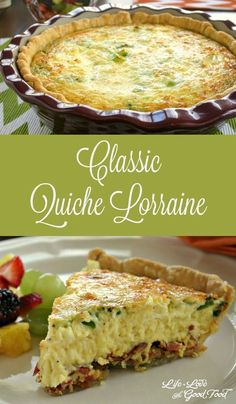 This easy quiche recipe is perfect for brunch, lunch or dinner. Loaded Baked Potato Quiche has all your favorite fixin's. Breakfast Quiche, Breakfast Dishes, Breakfast Recipes, Dessert Recipes, Quiches, Filet Mignon Chorizo, Good Food, Yummy Food, Food And Drink