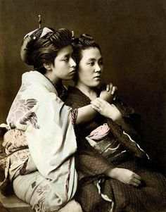 TWO GEISHA -- The Embrace of Friendship, via Flickr.
