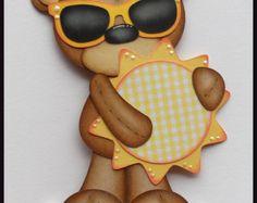 Sol oso empacadora papel Piecing adorno para páginas de Scrapbook por Babs