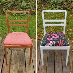 Винтажные стулья с яркой обивкой