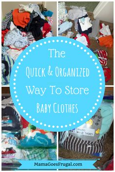 The Quick and Organized Way to Store Baby Clothes