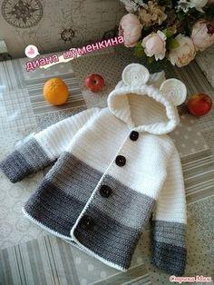 Baby Knitting Patterns Sweaters Crochet Baby Bear Sweater Free Pattern P - Crochet Baby Bear Sweater - . How to Crochet a Bear - Crochet Ideas Haak Baby Bear trui Gratis patroon P - haak Baby Bear trui - . Crochet Baby Sweater Pattern, Crochet Baby Poncho, Crochet Baby Sweaters, Knitted Baby Cardigan, Crochet Coat, Baby Girl Crochet, Crochet Baby Clothes, Crochet Jacket, Baby Knitting Patterns