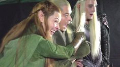 Elves react to those girls' reactions. This video is what convinced me that Tauriel was going to be amazing :)