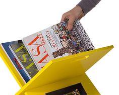 Revisteiro Fênix Amarelo http://www.oppa.com.br/revisteiro-fenix-amarelo