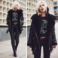 Get this look: lb.nu/look/8031260  More looks by Masha Sedgwick: lb.nu/masha_sedgwick  Items in this look:  Acne Studios Jacket   #edgy #grunge #punk