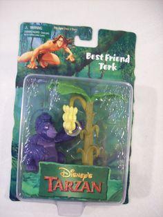 NEW DISNEY TARZAN BEST FRIEND TERK PVC FIGURE WITH TREE EDGAR RICE BURROUGHS #MATTELARCOTOYS