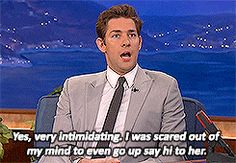 When John Krasinski revealed he was so intimidated by Emily Blunt when he first met her, that he was scared to even talk to her. | 38 Times Celebrity Couples Gave Us Intense Relationship Goals