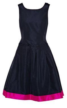 Love fuschia and navy!!  Oscar de la Renta For The Outnet: Navy and Fuschia Colorblocked Dress, $995