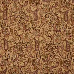 Beige, Red and Light Green Woven Paisley Upholstery Fabric By The Yard Velvet Upholstery Fabric, Fabric Ottoman, Chenille Fabric, Ikat Fabric, Pillow Fabric, Brocade Fabric, Paisley Fabric, Fabric Birds, Fabric Scraps