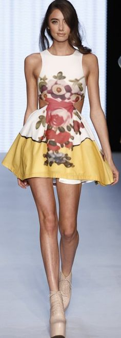 SS 2013 dress with cutouts