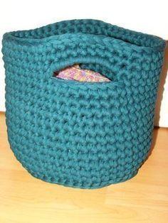 Kostenlose Anleitung Für Ein Korb Aus Textilgarn Penye Ip