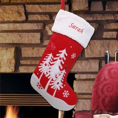 #Personalized #Winter Trees #Christmas #Stocking