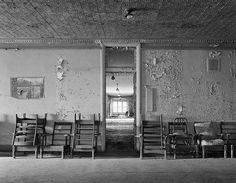 Hall with Chairs, Taunton State Hospital, Massachusetts
