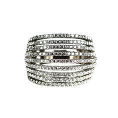 Multi-Row Ring – Andreia Fuzon Jewelry White Gold Plated