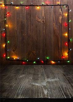 5x7ft pies pequeños fondos Kate retro digital de Navidad de pared y suelo de madera estudio de la foto luces de colores de madera para el contexto Photo recién nacido: Amazon.es: Electrónica