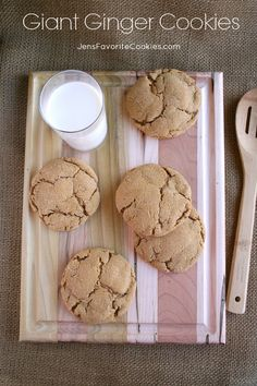 Giant Ginger Cookies from Jen's Favorite Cookies  - because bigger is better.