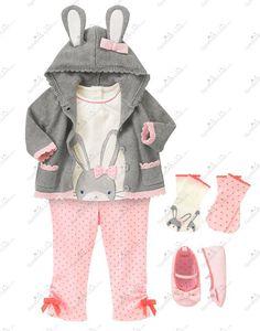 Gymboree Cottontail Cutie Outfit (Girl - Layette/Newborn) - Gymboree Lines