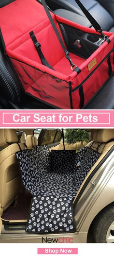 [Click to SHOP] Portable Pet Car Seat & Safety Travel Carrier Bag#newchic#pet#travel#summer
