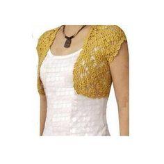 Torera Crochet Tejida -   560.00 en MercadoLibre Blusas Tejidas a0ee35708a7