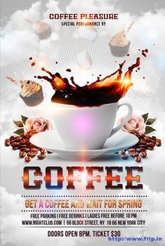 Coffee Shop Magazine Ad Or Flyer Template V  Magazine Ads Flyer
