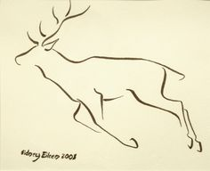 Title: Min. Deer 1, Artist: Sidney Eileen, Medium: brush marker on paper