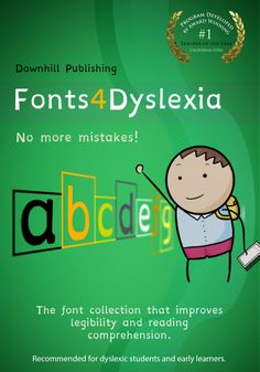Educational Dyslexia Fonts - The typeface collection that improves legibility and reading comprehension