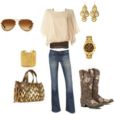 Love the boots! Cute Outfit! Switch the pants out with a skirt for a more flirty look!