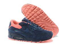 #Air #Max 90 Premium Womens Shoe Dark Blue / Orange#SOLETOPIA The Best Source for Fashion