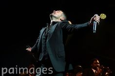 Robin Thicke performing on stage during day two of the Wireless Festival at Perry Park, Birmingham.