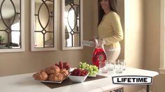 Lifetime 80205 Fold-In-Half White Granite Plastic Multi Use Table Fold In Half Table, Lifetime Tables, White Granite, Table Sizes, 5 S, Plastic