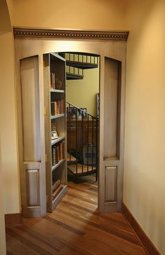 I want my own library someday. Also, hidden passage ways and secret bookcase doors.
