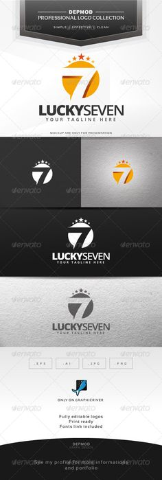 Logo of a lucky seven number in a circular shape. Full vectors, this logo can be easily resize and colors can be changed to fit yo