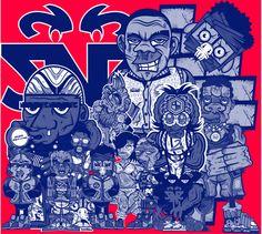°°2nigo characters Designs 2012°° by Denigot Nicolas, via Behance