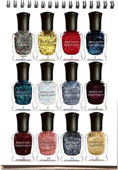 WANT: Glitter Nail Polish! =) Looking at these Deborah Lippmann colors already LIGHTS up my day ;)