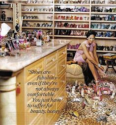 One day... #shoe closet  Mrs. Fabulous Kimora Lee Simmon's closet  is all the way FAB!