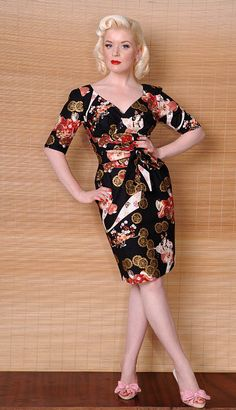 limb vanity project - Betty P dress with japanese print.  Must order this one asap. :)