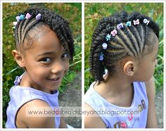 little girls natural hair style www.beadsbraidsbeyond.blogspot.com