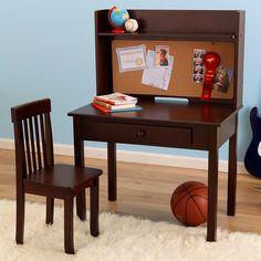 Kidkraft 27150 Pin Board Kids Desk With Hutch & Chair