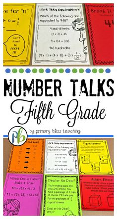 Are you looking for fifth grade number talk activities to get your students thinking and talking about math. If you are, check out this time saving yearlong program.