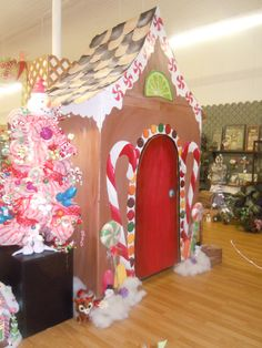 refrigerator box gingerbread house