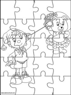 Pin en Jigsaw to cut out for kids