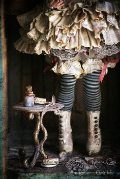 The table by Rebeca Cano ~ Cookie dolls, via Flickr