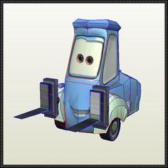 Disney Pixar: Cars - Guido Ver.2 Free Paper Model Download - http://www.papercraftsquare.com/disney-pixar-cars-guido-ver-2-free-paper-model-download.html