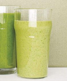 Kale Smoothie With Pineapple and Banana | Load up on fruits and vegetables with a nutritious blended drink every morning.