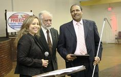 """Willie Barber, Advocacy and Legislation Chairman of the American Council of the Blind of Texas, receives Enable Award for Removing Barriers: """"For your service and contribution to the disability community and promoting an inclusive and accessible society for all."""""""