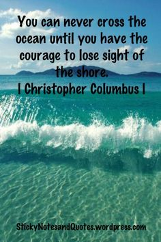 Inspirational quotes help to inspire our company when a task gets tough. These are special siince it is Columbus Day. To learn more about our company, click on pin.