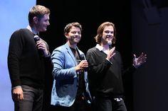 .@JensenAckles, @ mishacollins & @jarpad surprise fans at the #SPNFanParty. #Supernatural Photo Credit: @Frawleyphoto