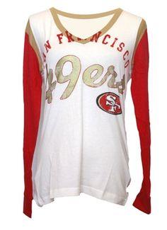 3b04bed89 San Francisco 49ers Women s Dynasty Team Long Sleeve Shirt