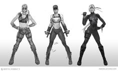 View an image titled 'Sonya Blade Sketches' in our Mortal Kombat X art gallery featuring official character designs, concept art, and promo pictures. Sonya Blade, Mortal Kombat X, Game Character, Character Concept, Character Design, Concept Art World, Game Concept Art, Kung Jin, Star Wars Episode Iv