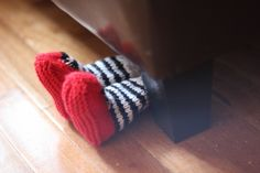 Cute hand knit wizard of oz baby booties by Fuzzy Funk Designs!  too cute!! @Amber Lang